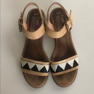 Toms leather camilia sandals
